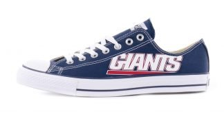 NY Giants Custom Converse Shoes Navy Low by BandanaFever.com
