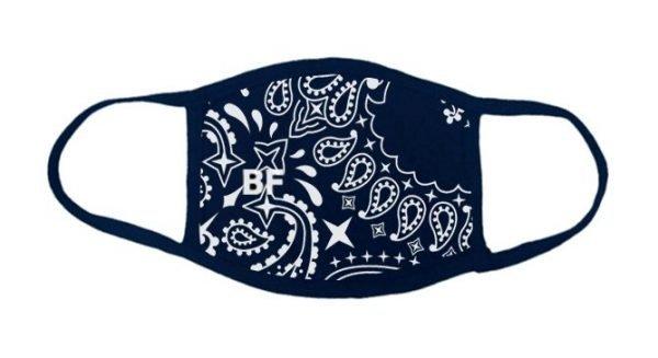Navy Blue Bandana Custom Face Mask at Bandana Fever