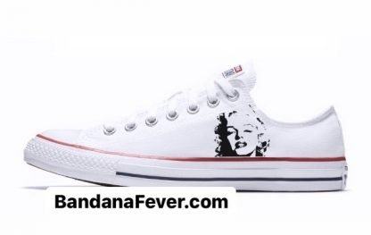 Bandana Fever Marilyn Monroe Custom Converse Shoes White Low at BandanaFever.com