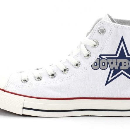 Dallas Cowboys Custom Converse Shoes White High