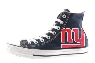 NY Giants Custom Converse Shoes Navy High by BandanaFever.com