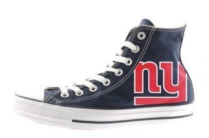 NY Giants Custom Converse Shoes Navy High by BandanaFever.com
