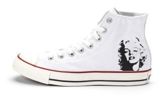 Marilyn Monroe Custom Converse Shoes White High by BandanaFever.com