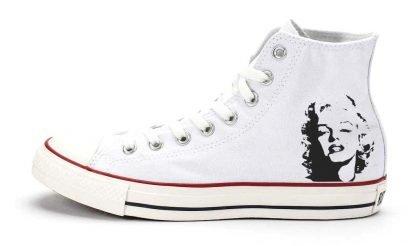 Marilyn Monroe Custom Converse Shoes White High by BandanaFever.com