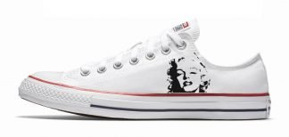 Marilyn Monroe Custom Converse Shoes White Low by BandanaFever.com