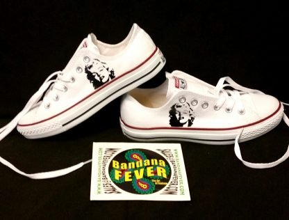 Marilyn Monroe Custom Converse Shoes Stacked White Low by BandanaFever.com