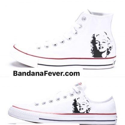 Marilyn Monroe Custom Converse Shoes White by BandanaFever.com
