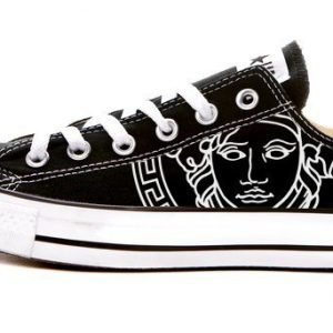 Black Medusa Custom Converse Shoes Black Low at BandanaFever.com