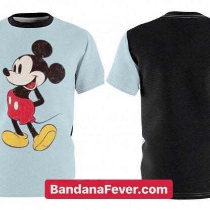 Mickey Custom T-Shirt SS Carolina/Black Sides by BandanaFever.com