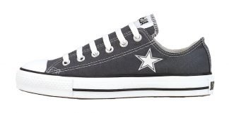 Mini Dallas Cowboys Custom Converse Shoes Charcoal Low at BandanaFever.com
