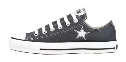 Mini Dallas Cowboys Custom Converse Shoes Charcoal Low at BandanaFever.com