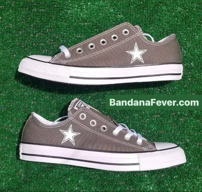 Mini Dallas Cowboys Custom Converse Shoes Charcoal Low Pair at BandanaFever.com