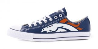 Denver Broncos Custom Converse Shoes Navy Low by BandanaFever.com