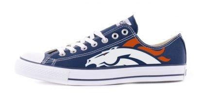 Denver Broncos Custom Converse Shoes Navy Low by BandanaFever.com