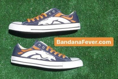 Denver Broncos Custom Converse Shoes Pair Navy Low by BandanaFever.com