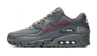Atlanta Falcons Black Splat Custom Nike Air Max Shoes Grey by BandanaFever.com