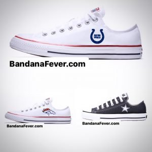 Mini Colts, Broncos, Cowboys Custom Converse Shoes at BandanaFever.com