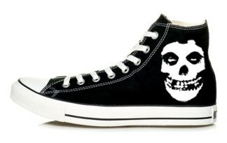 Misfits Custom Converse Shoes Black High at BandanaFever.com