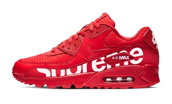 Supreme Custom Nike Air Max Shoes Red MG by BandanaFever.com