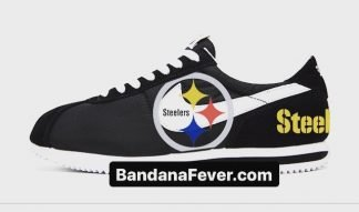 Bandana Fever Pittsburgh Steelers Custom Nike Cortez Shoes NBW at BandanaFever.com