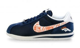 Denver Broncos Orange Bandana Custom Nike Cortez Shoes NNW by BandanaFever.com