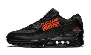 Cleveland Browns Brown Splat Custom Nike Air Max Shoes Black by BandanaFever.com