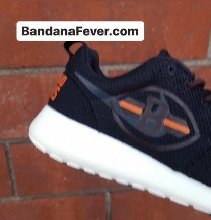 Cleveland Browns Custom Nike Roshe Shoes Black Close at BandanaFever.com