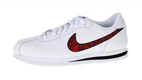Red Bandana Custom Nike Cortez Shoes Swoosh LWB by BandanaFever.com