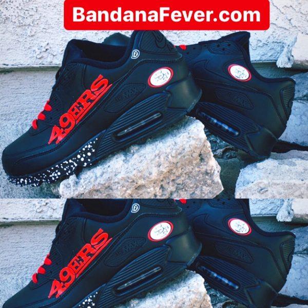 Bandana Fever SF 49ers Custom Nike Air Max Shoes at BandanaFever.com