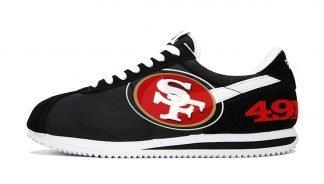 SF 49ers Custom Nike Cortez Shoes NBW by BandanaFever.com