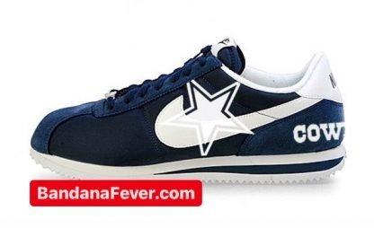 Bandana Fever Dallas Cowboys Custom Nike Cortez Shoes NNW Heels at BandanaFever.com