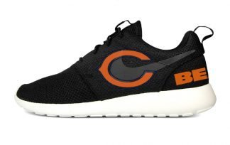 Chicago Bears Custom Nike Roshe Shoes Black Heels by BandanaFever.com