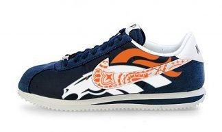 Broncos Big Orange Bandana Custom Nike Cortez Shoes NNW at BandanaFever.com