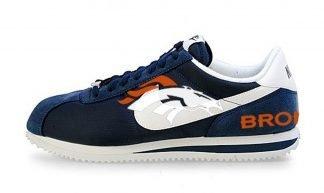 Denver Broncos Custom Nike Cortez Shoes NNW Heels by BandanaFever.com
