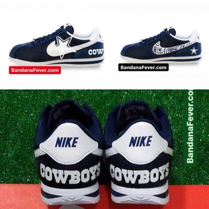 Dallas Cowboys Custom Nike Cortez Shoes by BandanaFever.com
