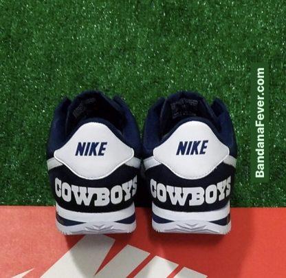 Dallas Cowboys Custom Nike Cortez Shoes NNW Heels Heels at BandanaFever.com