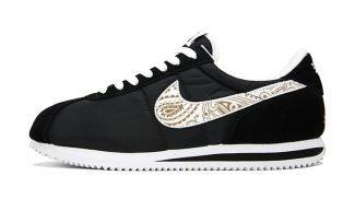 Gold Metallic Bandana Custom Nike Cortez Shoes Swoosh NBW by BandanaFever.com