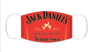 Jack Daniel's Fire Custom Face Mask Red by BandanaFever.com
