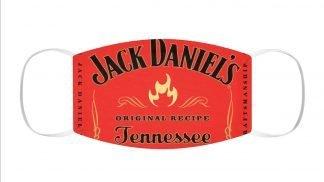 Jack Daniel's Fire Custom Face Mask Red by BandanaFever.com