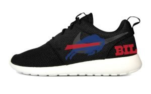 Buffalo Bills Custom Nike Roshe Shoes Black Heels by BandanaFever.com