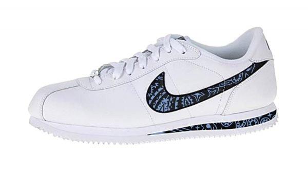 Carolina Blue Bandana Custom Nike Cortez Shoes LWB Swoosh Soles by BandanaFever.com