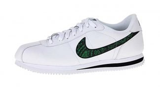 Green Bandana Custom Nike Cortez Shoes Swoosh LWB by BandanaFever.com