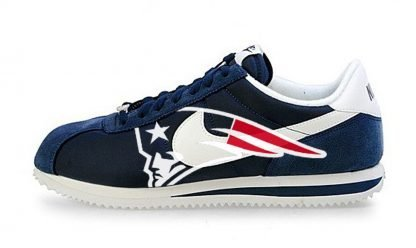 New England Patriots Big Custom Nike Cortez Shoes NNW by BandanaFever.com