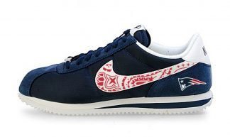 New England Patriots Mini Red Bandana Custom Nike Cortez Shoes NNW by BandanaFever.com