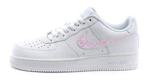 Pink Bandana Custom Nike Air Force 1 Shoes White Low Swoosh by BandanaFever.com