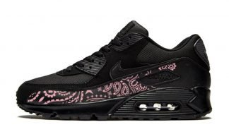 Pink Bandana Custom Nike Air Max Shoes Black by BandanaFever.com