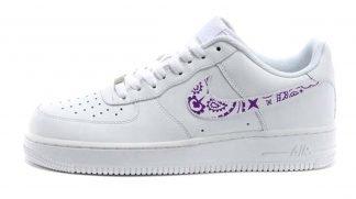 Purple Bandana Custom Nike Air Force 1 Shoes White Low Swoosh by BandanaFever.com