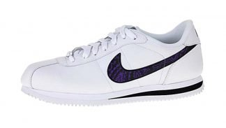 Purple Bandana Custom Nike Cortez Shoes Swoosh LWB by BandanaFever.com