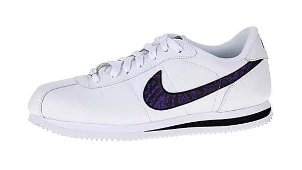 Purple Bandana Custom Nike Cortez Shoes Swoosh LWB by BandanaFever.com