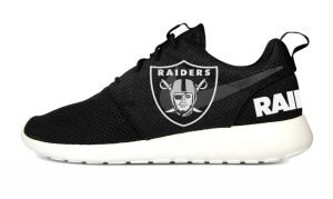 Las Vegas Raiders Custom Nike Roshe Shoes Black Heels by BandanaFever.com